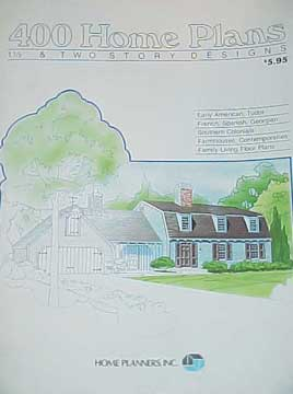HOME PLANNERS 400 HOME PLANS -1 1/2 & 2 STORY DESIGNS (1982)