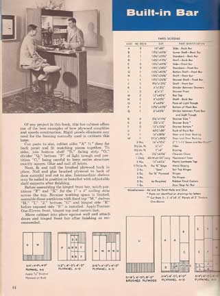 52 FIR PLYWOOD HOME STORAGE PLANS (1955)