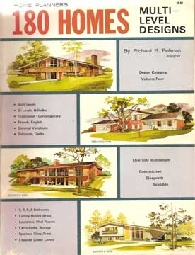 180 Homes Multi-Level Home Plans, by R. Pollman  (1977)