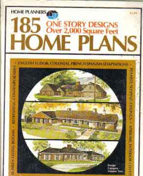 HOME PLANNERS 185 HOMES - 1 STORY DESIGNS OVER 2000 SQ FT (1976)