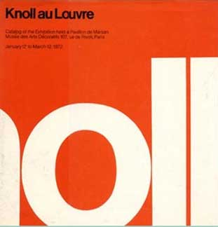 KNOLL AU LOUVRE by Massimo Vignelli and Herbert Matter 1972