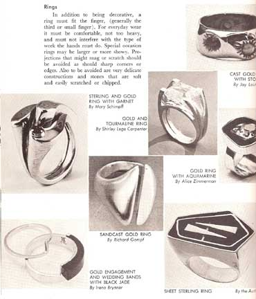 HANDWROUGHT JEWELRY. BY LOIS E. FRANKE (1962)