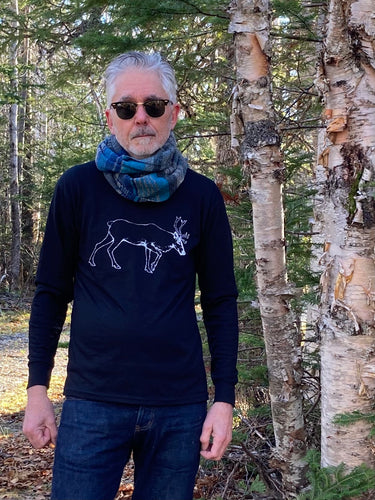 Caribou | Unisex | Made in Canada | BLACK | Artwork by Bruce Pashak