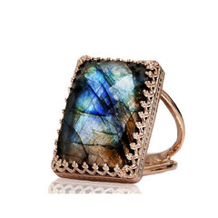 Labradorite Statement Ring - The Little Secret Boutique