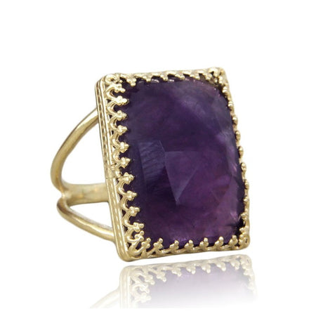 Triple Gemstone Ring Stack
