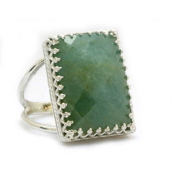 Aquamarine Statement Ring - The Little Secret Boutique