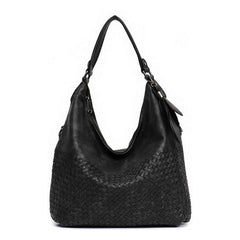 Luxury Collection Hand Woven Vegan Leather Hobo Crossbody Purse - The Little Secret Boutique