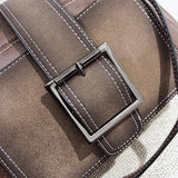 Ella Distressed Crossbody Buckle Satchel - The Little Secret Boutique
