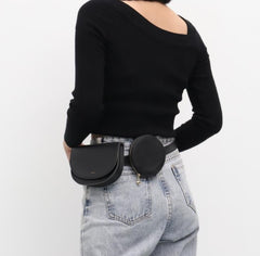 Geometric Double Slim Belt Bag