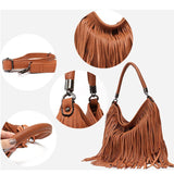 Vintage Style Hipster Fringe Hobo Bag - The Little Secret Boutique