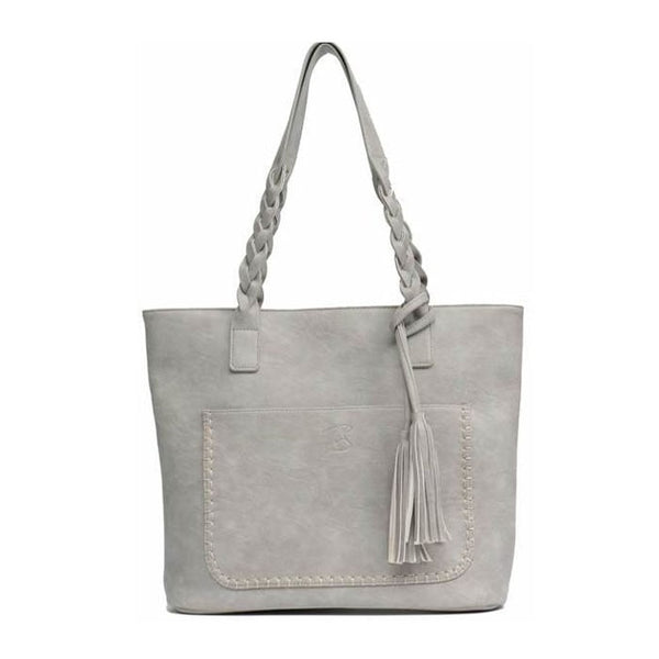 The LIZA Vegan Leather Tassel Tote - The Little Secret Boutique