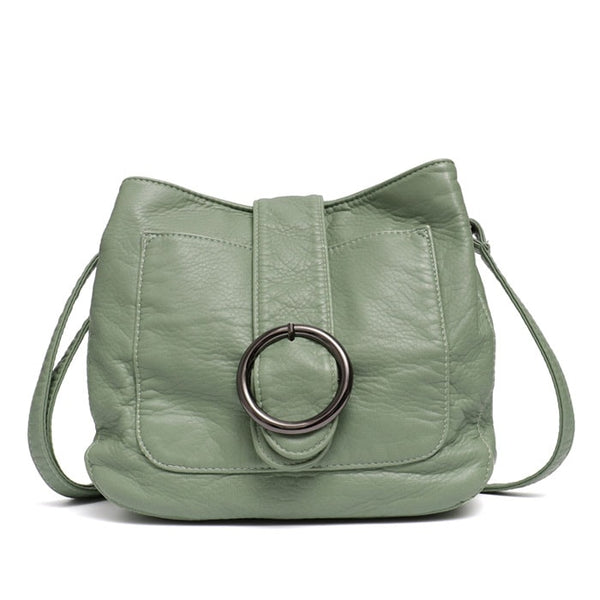"Vegan ""Mushroom"" Leather Puffball Soft Saddle Bag - The Little Secret Boutique"