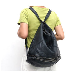 "Vegan ""Mushroom"" Leather Puffball Studded Backpack Hobo Bag"