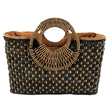 Knitted Straw Summer Clutch
