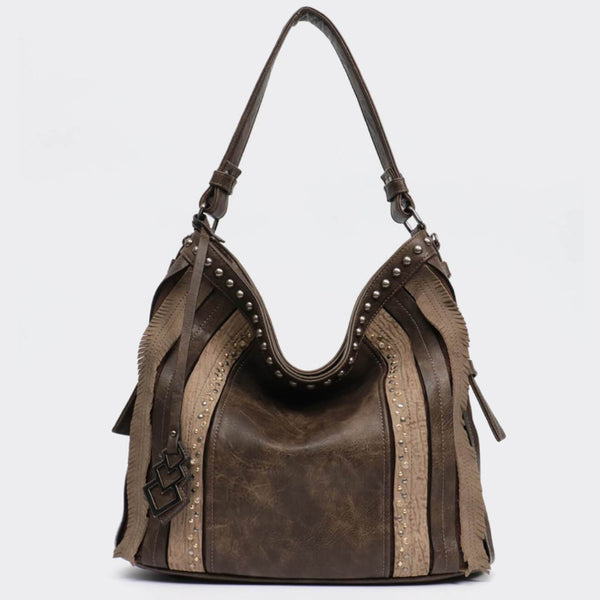 Bohemian Vegan Leather Extra Large Traveler Hobo - The Little Secret Boutique