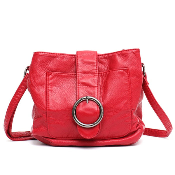 "Vegan ""Mushroom"" Leather Puffball Soft Saddle Bag"