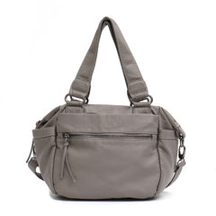 "Vegan ""Mushroom"" Leather Puffball Soft Military Style Sac - The Little Secret Boutique"