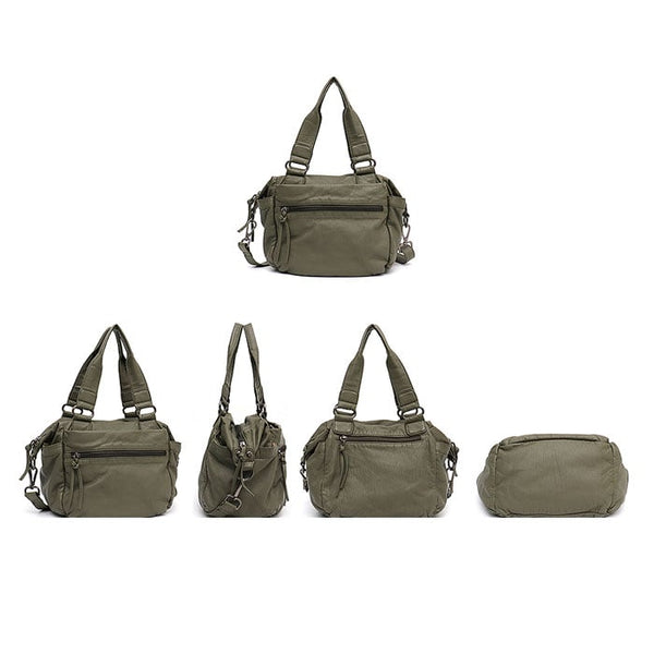 "Vegan ""Mushroom"" Leather Puffball Soft Military Style Sac"