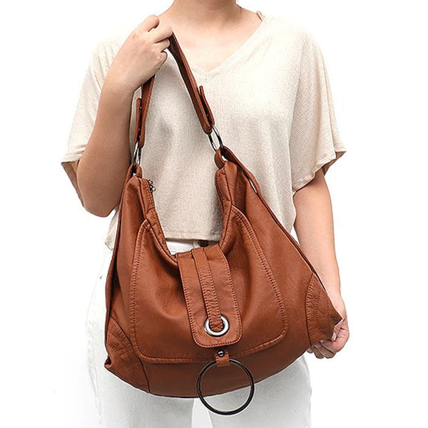 "Vegan ""Mushroom"" Leather Puffball Soft Trapezoid Bag"