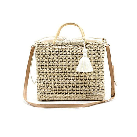 Stripe Canvas Beach Tote