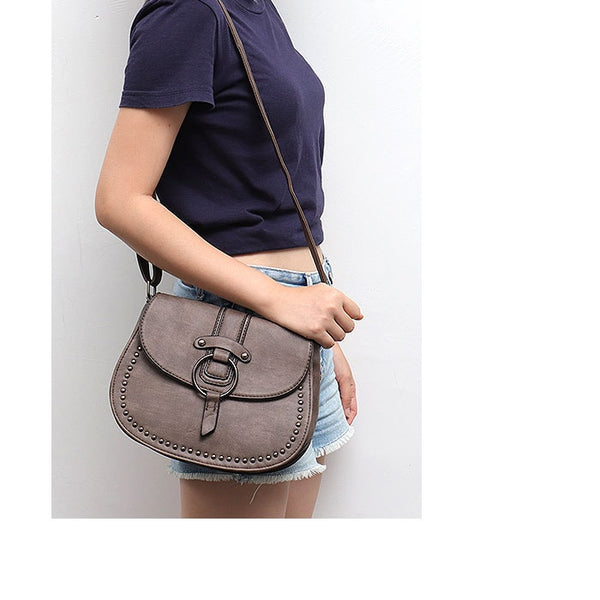 REBA Vintage Rodeo Crossbody Saddle Bag - The Little Secret Boutique