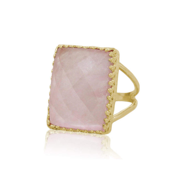 Rose Quartz Statement Ring - The Little Secret Boutique