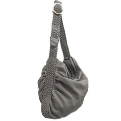 "Vegan ""Mushroom"" Leather Puffball Soft Slouchy Hobo Bag - The Little Secret Boutique"