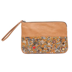 Hand Embellished Vegan Leather Spanish Style Day Clutch - The Little Secret Boutique