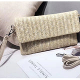 Knitted Straw Summer Clutch - The Little Secret Boutique