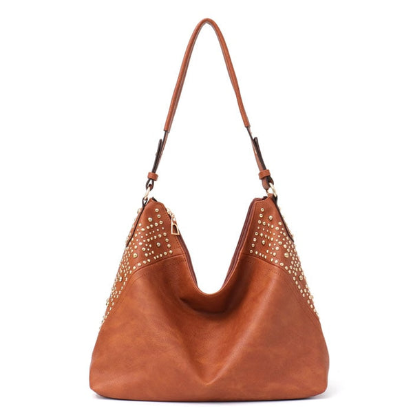 DYLAN Vegan Leather Studded Hobo - The Little Secret Boutique