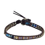 Beautiful Handmade Crystal Seed Beaded Single Wrap Bracelet - The Little Secret Boutique
