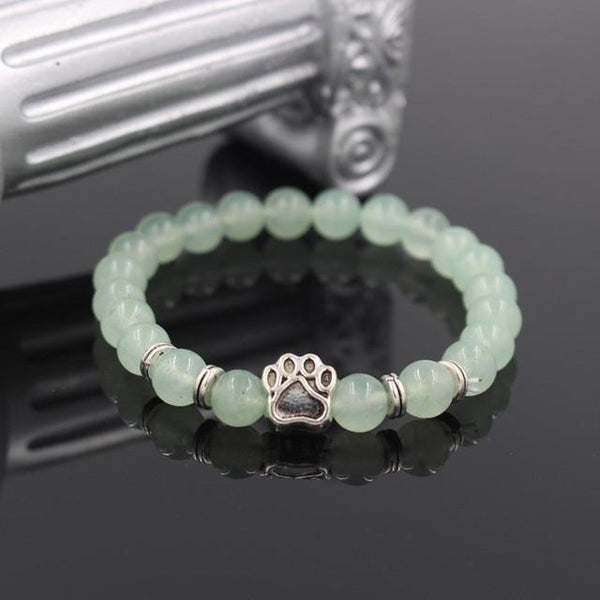 Natural Stone Memorial Dog Paw Bracelet - The Little Secret Boutique