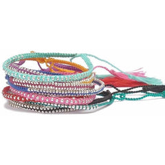 Handmade Multicolor Woven Beaded Friendship Bracelet - The Little Secret Boutique