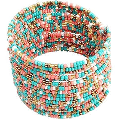 Boho Multilayer Beaded Bangle Bracelet - The Little Secret Boutique