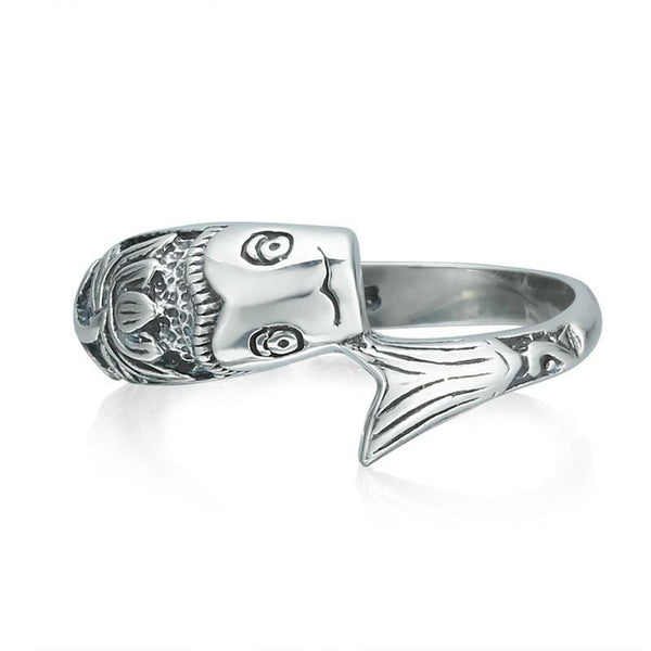 Sterling Silver Lotus Flower Lucky Fish Ring - The Little Secret Boutique