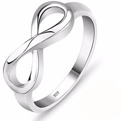 Sterling Silver Infinity Ring - The Little Secret Boutique