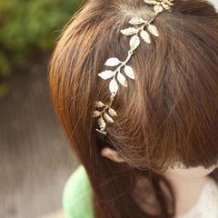 Romantic Rustic Olive Leaf Stretchy Head Band-Go to Celebrity Fashion Accessory - The Little Secret Boutique