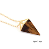 18K Gold Plated Healing Crystal Pendulum Necklace - The Little Secret Boutique