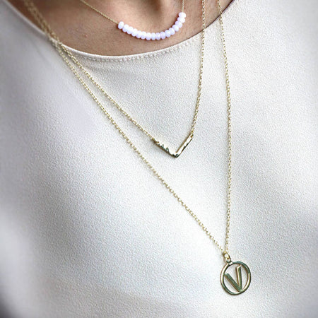 Aquamarine Infinity Circle Necklace