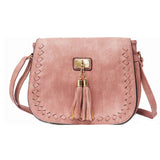 Whipstitch Tassel Saddle Bag - The Little Secret Boutique