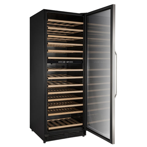 Avanti - 148-Bottle Dual Zone Wine Cooler - Stainless steel