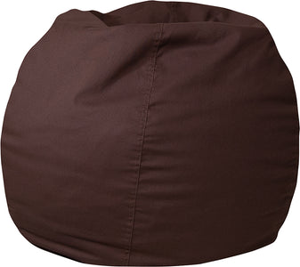Small Solid Brown Bean Bag Chair for Kids and Teens