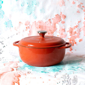 Coastal Sky Collection 4.5 Quart Sea Breeze Enameled Cast Iron Dutch Oven
