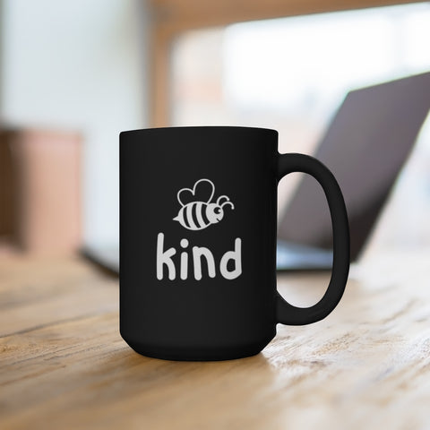 Bee Kind Black Mug 15oz