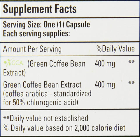 Image of Bio Nutrition Coffee Bean Gel Caps, Pure Green, 50 Count