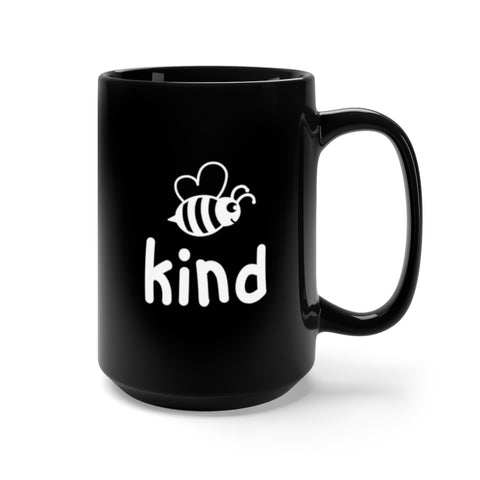 Image of Bee Kind Black Mug 15oz