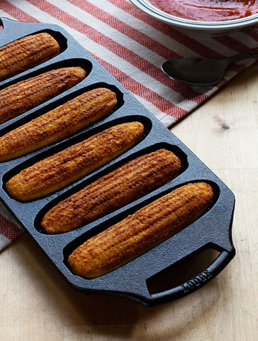 Seasoned Cast Iron Cornstick Pan
