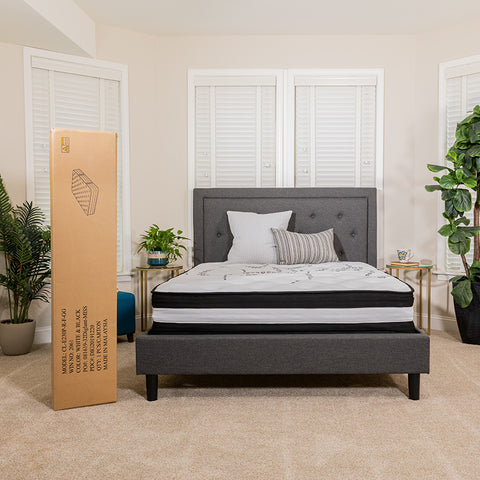 Image of Flash Furniture Capri Comfortable Sleep 12 Inch Foam and Pocket Spring Mattress, Queen Mattress in a Box Bundle with SafeRest Queen Size Premium Hypoallergenic Waterproof Mattress Protector