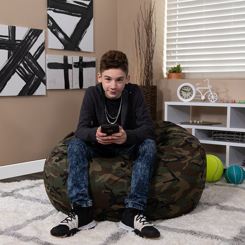 Flash Furniture Oversized Camouflage Kids Bean Bag Chair