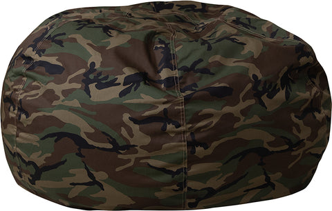 Image of Flash Furniture Oversized Camouflage Kids Bean Bag Chair